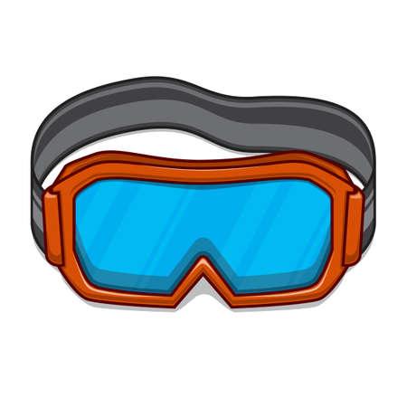 safety googles: Snowboard ski goggles.