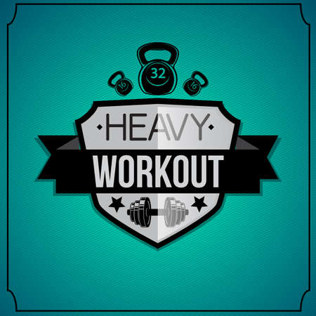 Workout background. Vector