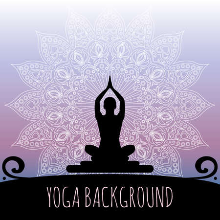 Yoga background. Illusztráció