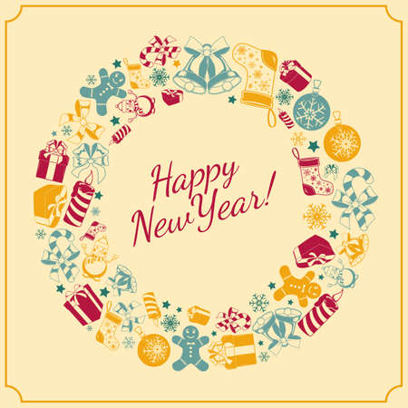 holiday background: New year holiday background. Illustration
