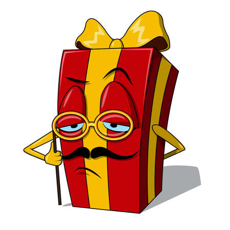present box: Present box character.