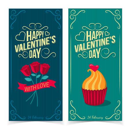 saint valentines: Banner San Valentino. Vettoriali