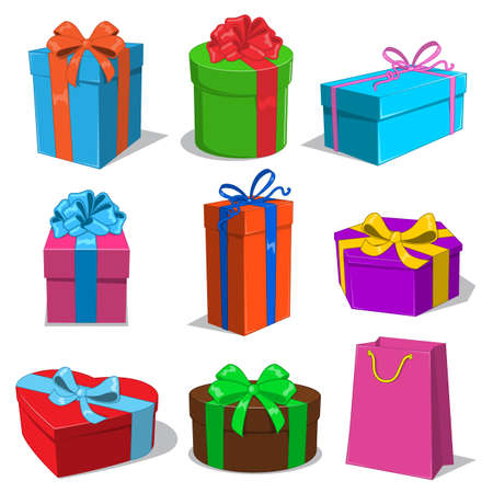 gift ribbon: Present boxes collection.