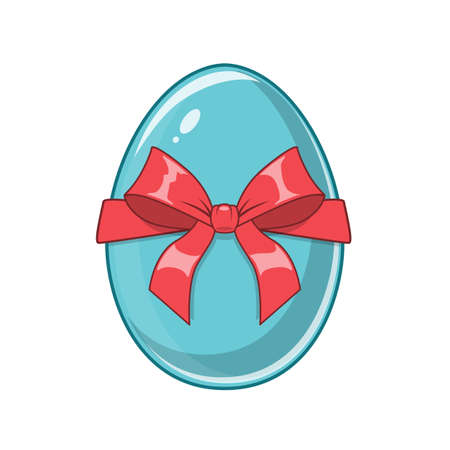 holiday symbol: Easter egg. Bright colored holiday symbol.