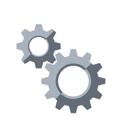 Gears. Settings symbol.