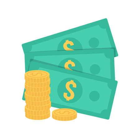 cash money: Cash money. Illustration