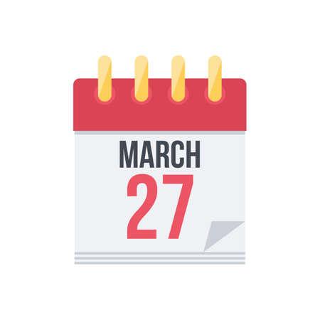 a calendar: Calendar. Illustration