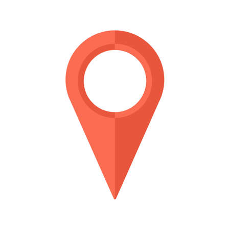 Wskaźnik mapa. Ilustracje wektorowe