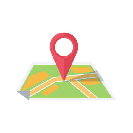 Map with pointer. Stock Illustratie