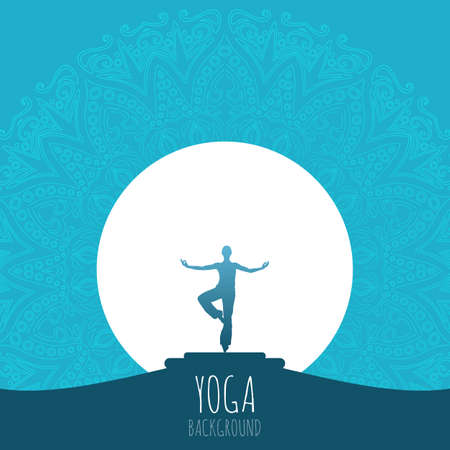 Yoga background. 向量圖像