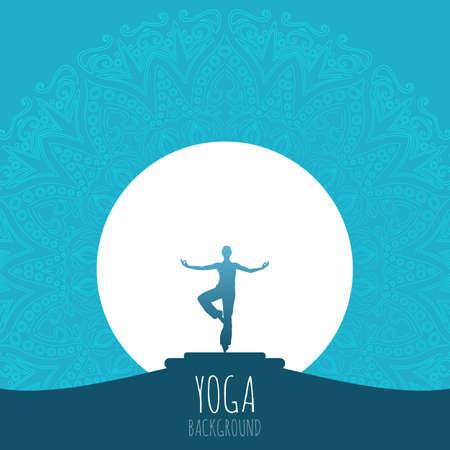 Yoga background. Vector