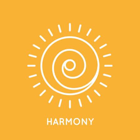 Yoga logo sjabloon.