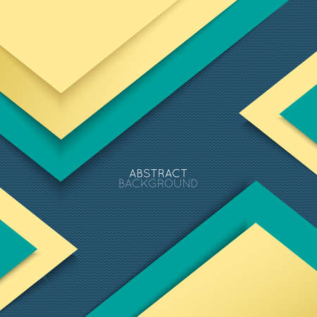 Abstract background. Multicolored shapes shadow overlap 3D dimension.