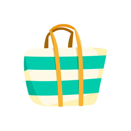 accessory: Bag beach accessory. Illustration