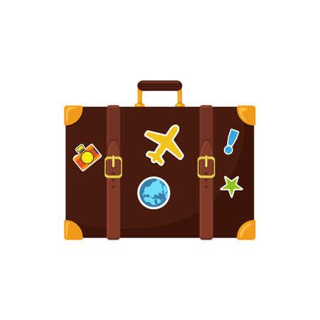 suitcase: Journey suitcase. Illustration