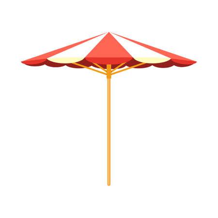 accessoire: Parasol strand accessoire. Stock Illustratie