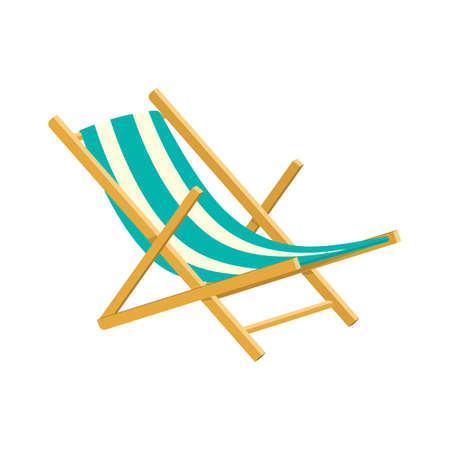 chaise lounge: Wooden collapsible chaise lounge for rest.