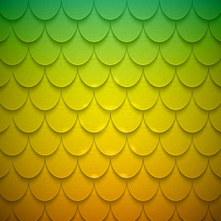 Pattern of semicircles in squama style. Vector