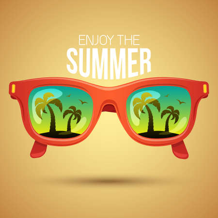 promotion: Tropical view in sunglasses.