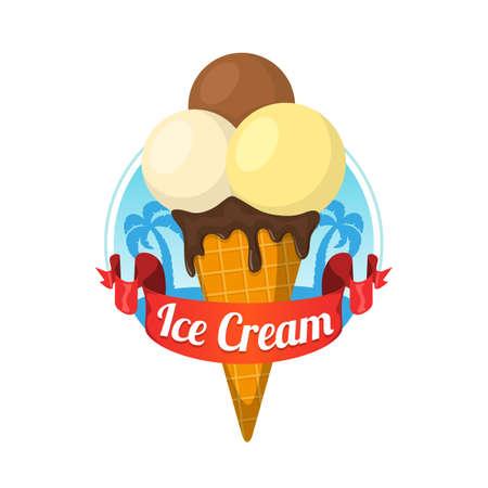 beach ad: Ice cream dessert.