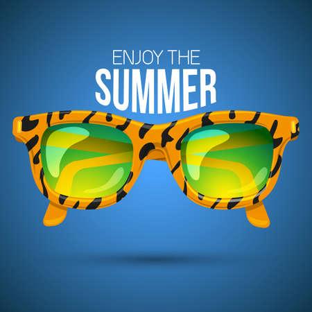 beach ad: Sunglasses.