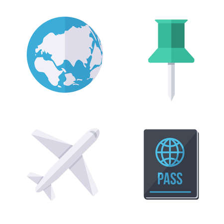 world wide: World wide traveling icons.