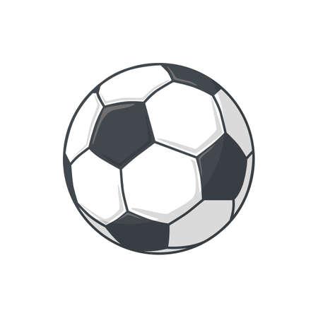 pelota de futbol: Aislado icono de pictograma. Vectores