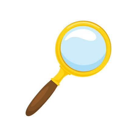 lupa: Aislado icono de pictograma. Vectores
