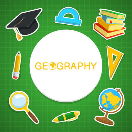 education background: Education background design. Science colorful vector composition.