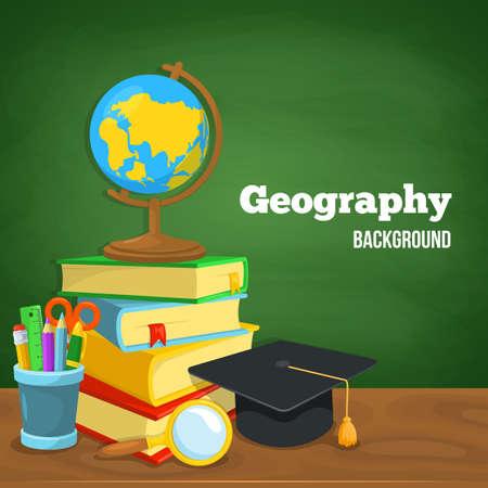 profesores: Diseño del fondo de la Educación. Ciencia composición colorida del vector. Vectores