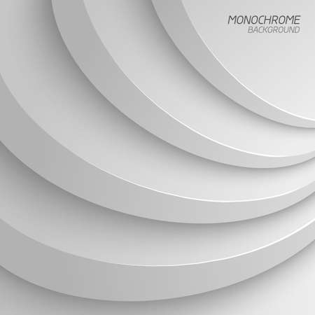 Gray shapes shadow overlap 3D dimension. Modern flat material background. Geometric vector template.