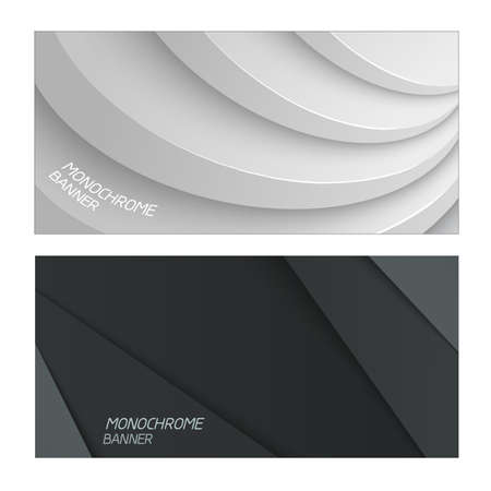 futuristic background: Gray shapes shadow overlap 3D dimension. Modern flat material composition. Geometric vector template.