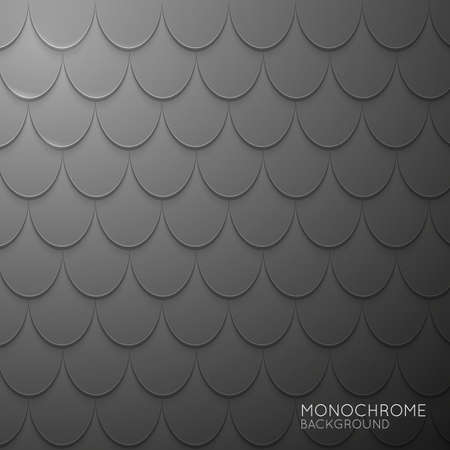 dimension: Gray shapes shadow overlap 3D dimension. Modern flat material background. Geometric vector template.