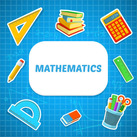 math icon: Education background design. Science colorful vector composition.