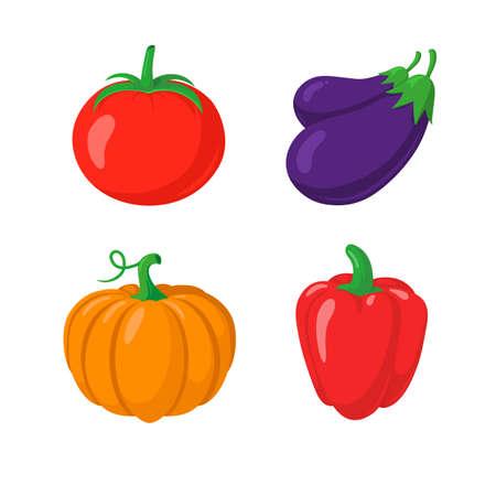autumn vegetables: Autumn vegetables symbols.  vector illustration.