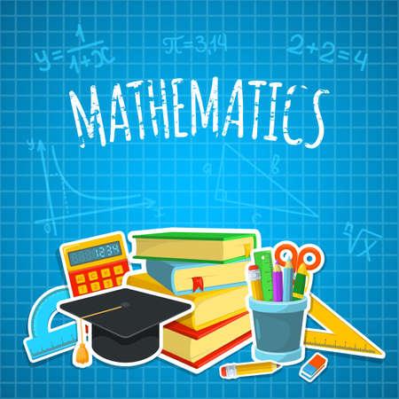 matematica: Dise�o del fondo de la Educaci�n. Ciencia composici�n colorida del vector. Vectores