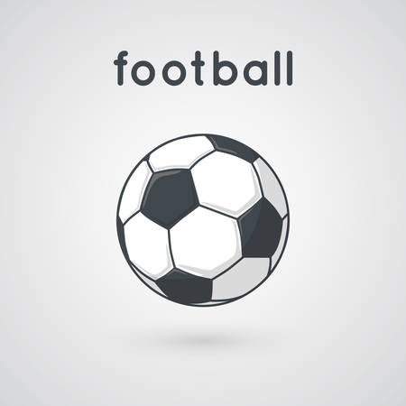 ballon foot: Cartoon illustration simple