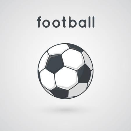 pelota de futbol: Cartoon simple ilustraci�n