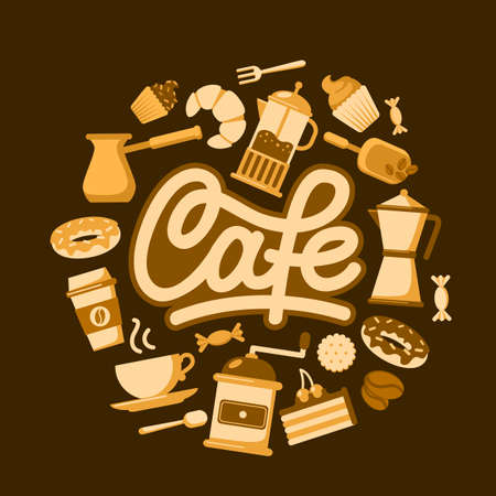 coffee house: Vector background for cafe or coffee house.