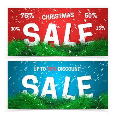 fir tree: Fir tree background and text. Vector holiday template. Illustration