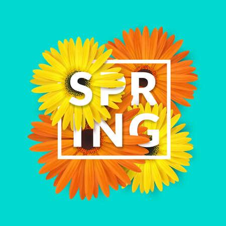 blossom background: Bright spring background design. Vector resizable illustration. Illustration