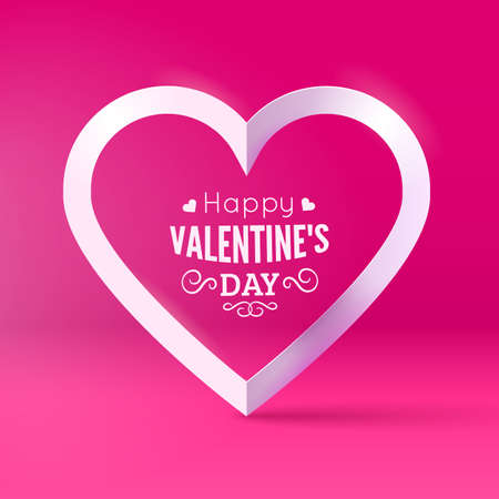 st  valentine's day: St Valentines Day card template. Vector background.