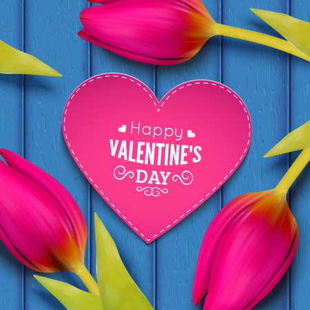 inlove: St Valentines Day card template. Vector background.