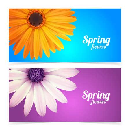 resizable: Bright spring banners design. Vector resizable illustration. Illustration