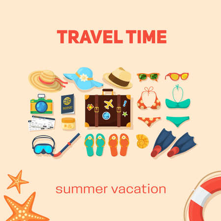 dive trip: Vacation travel background. Easy to edit design template.