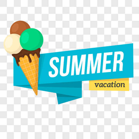beach ad: Summer tropic vacation banner design. Vector illustration.