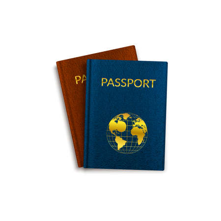 registry: Simple vector illustration of isolated travel document.