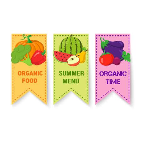 veggies: Fresh summer veggies vector illustration. Easy to edit design template. Illustration