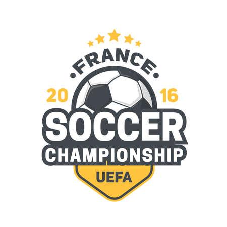 european championship: Soccer championship. Vector illustration easy to edit