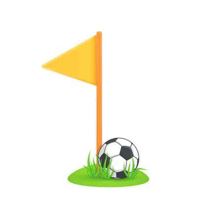 Soccer equipment symbol. Vector illustration easy to edit.
